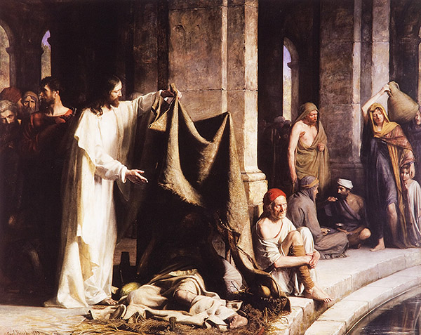 Christ Healing at the Well of Bethesda by Carl Heinrich Bloch