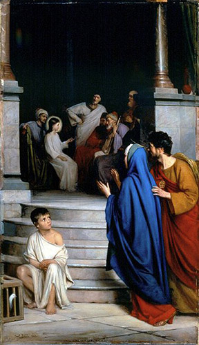The Twelve-Year-Old Jesus in the Temple by Carl Heinrich Bloch