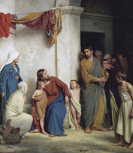 Let the Little Children Come Unto Me by Carl Heinrich Bloch