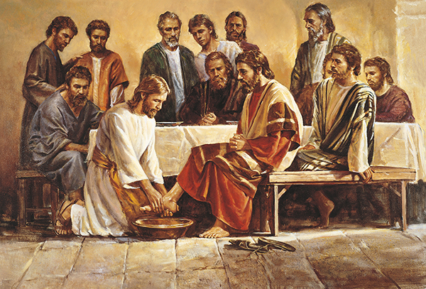 Jesus Washing the Apostles' Feet by Del Parson