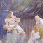 Alma Baptizing in the Waters of Mormon by Minerva Teichert