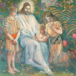 Jesus and the Children by Minerva Teichert