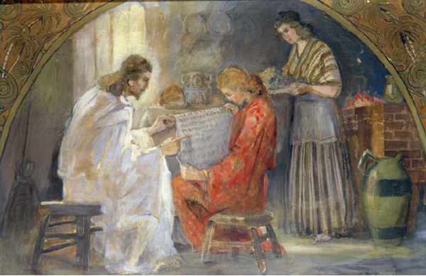 Christ With Mary and Martha by Minerva Teichert