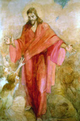 Christ in a Red Robe by Minerva Teichert
